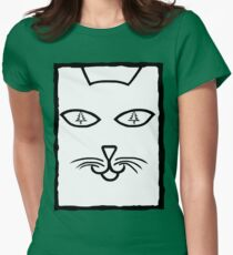 Christmas Cat Eyes Womens Fitted T-Shirt