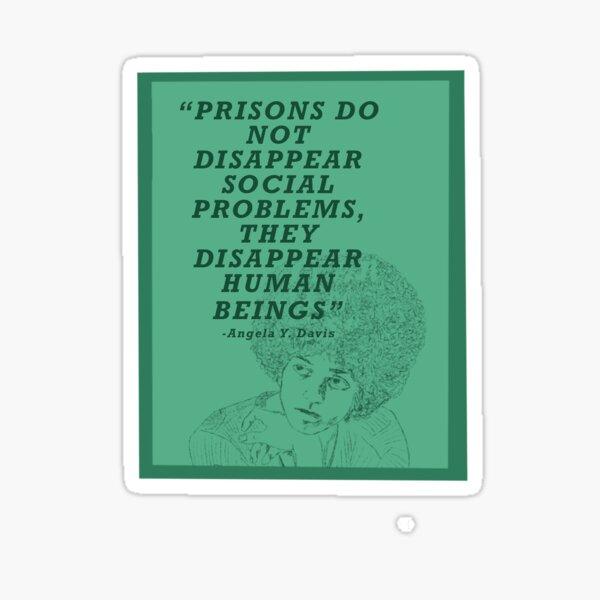 Angela Davis on Prisons Sticker
