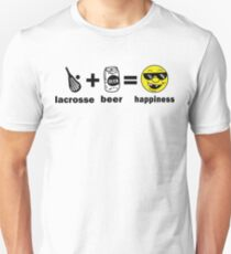 Lacrosse + Beer = Happiness T-Shirt