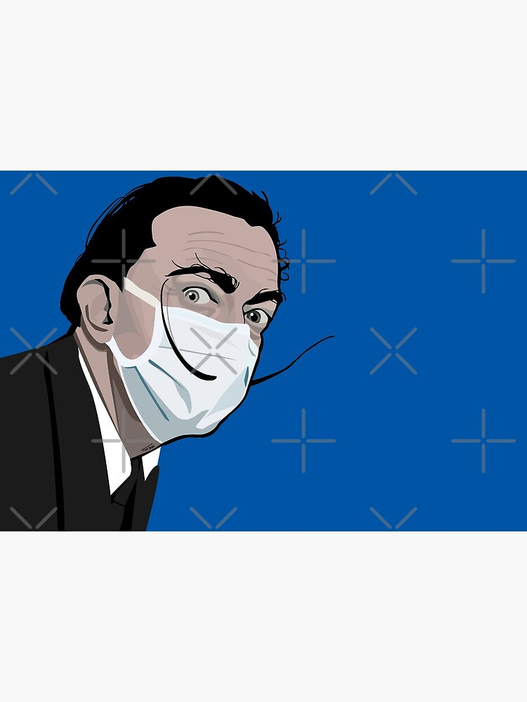 Portrait of Salvador Dali with a mask by Tof075