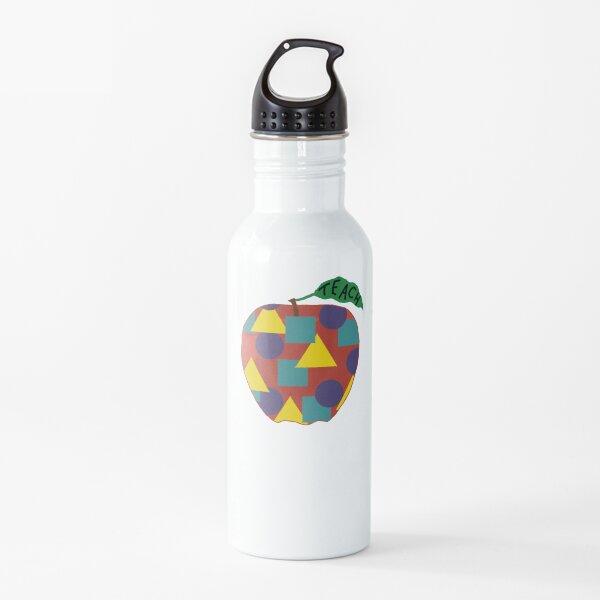 Elementary School Teacher Apple Sticker Water Bottle