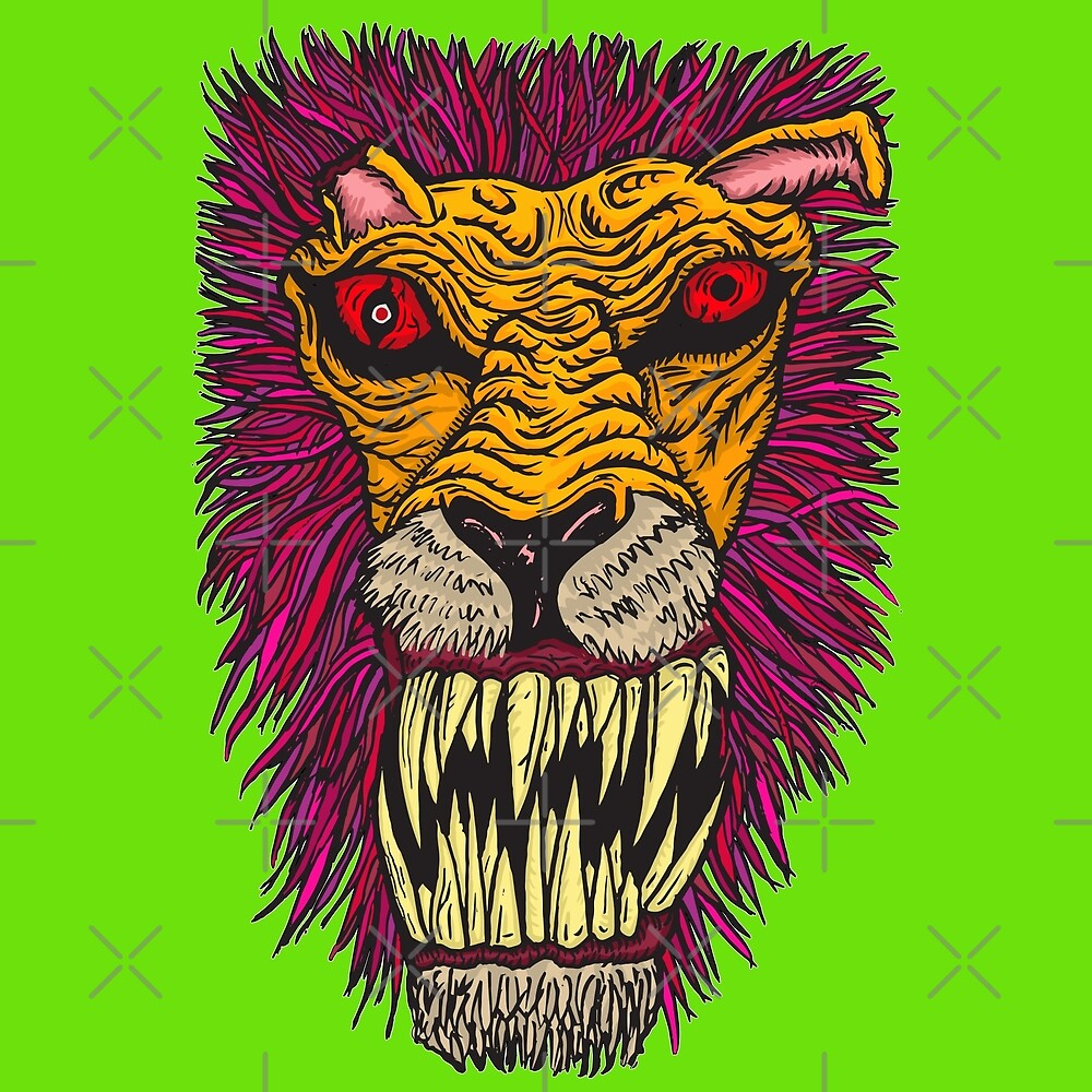 Monster Mondays #2 - Lionel Lion - Anger Monster! by ptelling