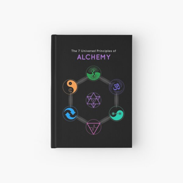 The 7 Universal Principles of Alchemy - Shee Symbols Hardcover Journal