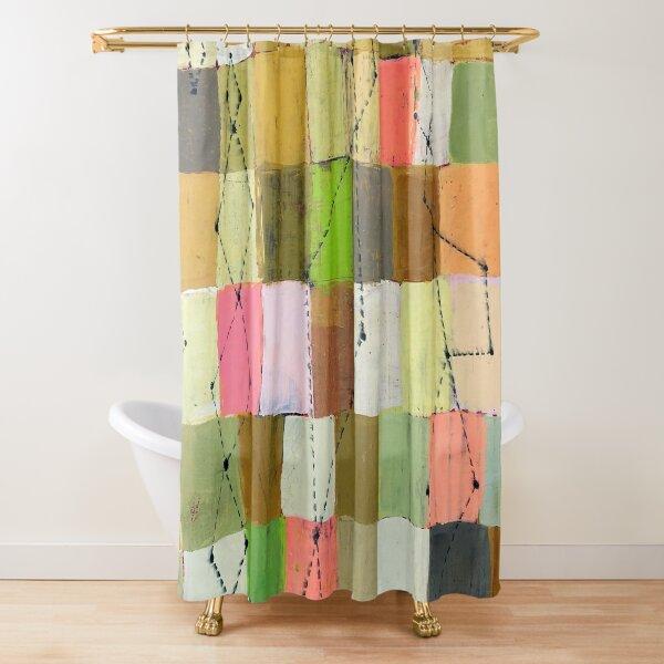 Vivid Blocks Shower Curtain