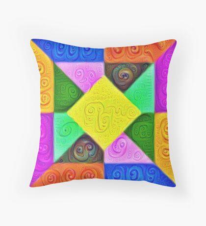 DeepDream Color Squares Visual Areas 5x5K v1447913433 Throw Pillow