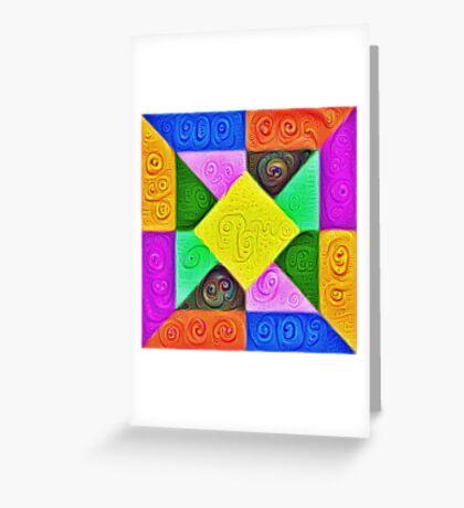 DeepDream Color Squares Visual Areas 5x5K v1447913433 Greeting Card
