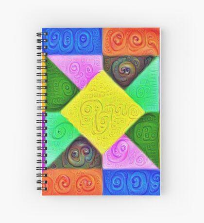 DeepDream Color Squares Visual Areas 5x5K v1447913433 Spiral Notebook