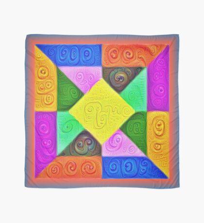 DeepDream Color Squares Visual Areas 5x5K v1447913433 Scarf