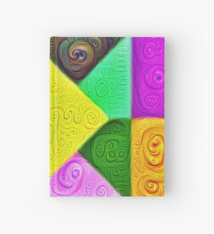 DeepDream Color Squares Visual Areas 5x5K v1447913433 Hardcover Journal