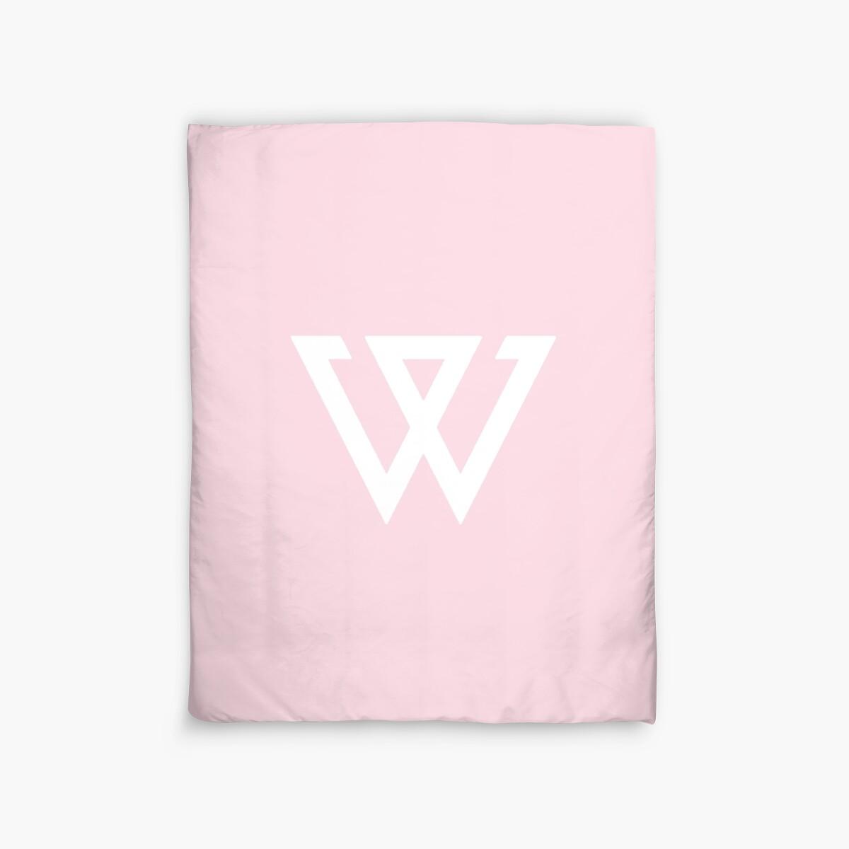 Quot Aesthetic Minimalistic Pastel Pink Winner Logo Kpop Duvet