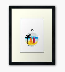 Surf Tank Framed Print