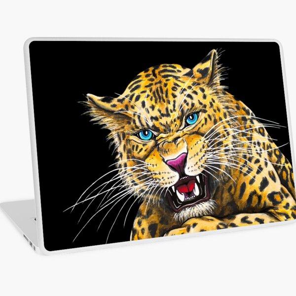 Leopard Roar - Shee Endangered Retro Animals Laptop Skin