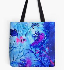 Life under water, watercolor Tote Bag
