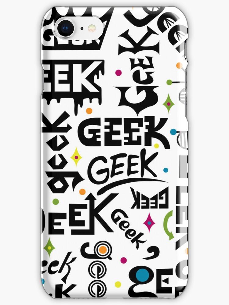 Geek Type 3G  4G  4s iPhone case by Andi Bird