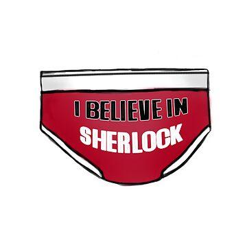 I believe in Sherlock - Red Pants style by sneakazeke