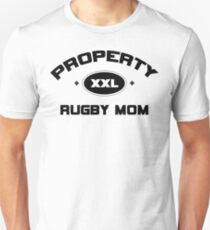 "Rugby ""Property Rugby Mom"" Unisex T-Shirt"