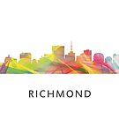 Richmond, Virginia Skyline WB1 von Marlene Watson