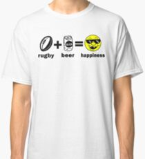 Rugby + Beer = Happiness Classic T-Shirt