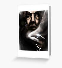 Alan Moore - Comic Messiah Greeting Card