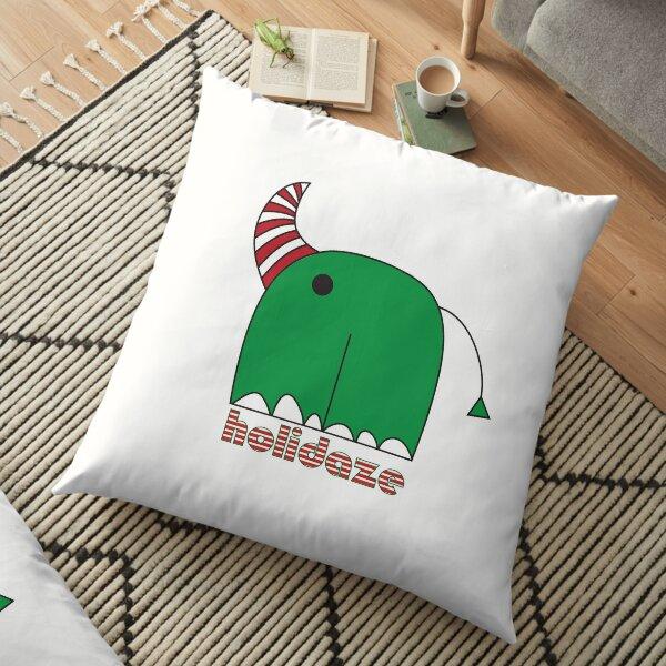 rhinocorn holidaze vibez Floor Pillow