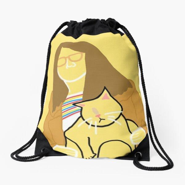 Maya and Her Cat Drawstring Bag