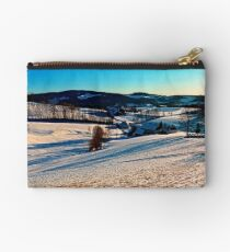 Smooth hills in winter wonderland Studio Pouch