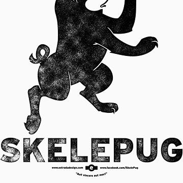 SkelePug Team Logo - black by SKELEPUG