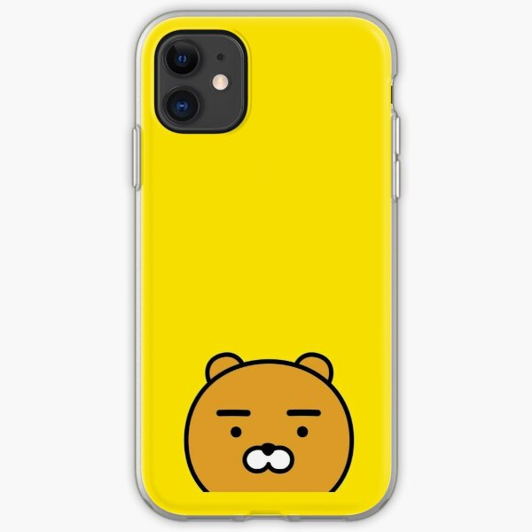 KakaoTalk Friends Hello! Ryan Face (카카오톡 라이언) iPhone Soft Case