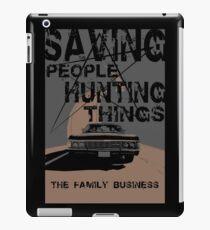 supernatural:saving people hunting things iPad Case/Skin