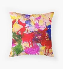 Enjoying the moment ,  watercolor Throw Pillow