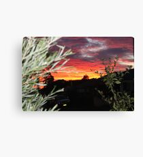 Goulburn Sunset Canvas Print