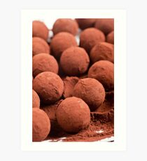 Chocolate truffles with cocoa powder  Art Print