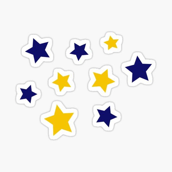 Blue and Yellow Stars Sticker