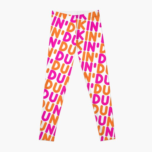 Dunkin Donuts Inspired Font Leggings