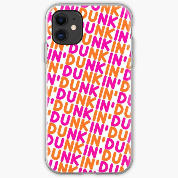 Dunkin Donuts Inspired Font iPhone Soft Case
