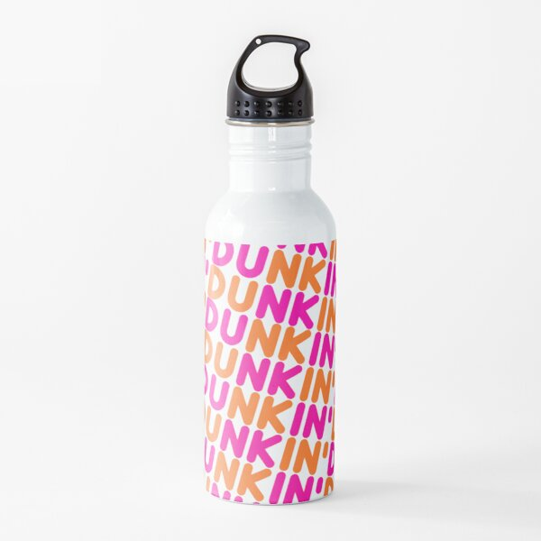 Dunkin Donuts Inspired Font Water Bottle