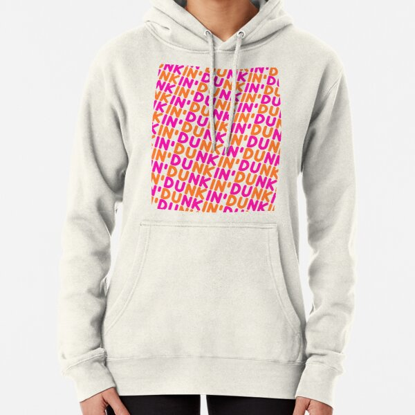 Dunkin Donuts Inspired Font Pullover Hoodie