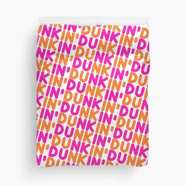 Dunkin Donuts Inspired Font Duvet Cover
