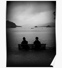 Couple at Lake Windermere Poster