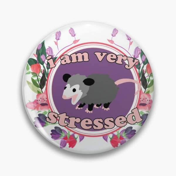 opossum is very stressed and cute plus flowers Pin