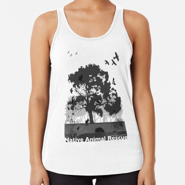Support Native Animal Rescue Racerback Tank Top