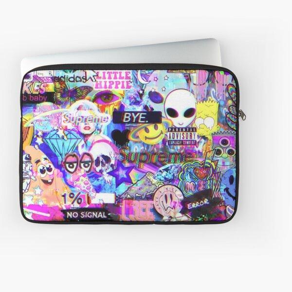 Trippy Hippie Collage Laptop Sleeve