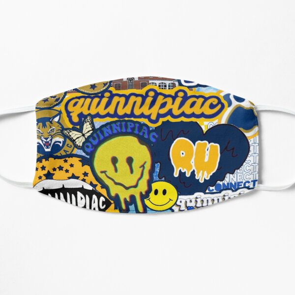 Quinnipiac University Collage Flat Mask