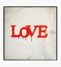 All You Need is Love (Red) Photographic Print