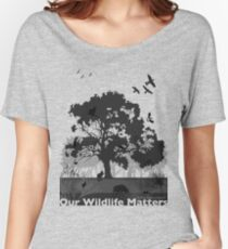 Our Wildlife Matters - Support Native Animal Rescue Women's Relaxed Fit T-Shirt