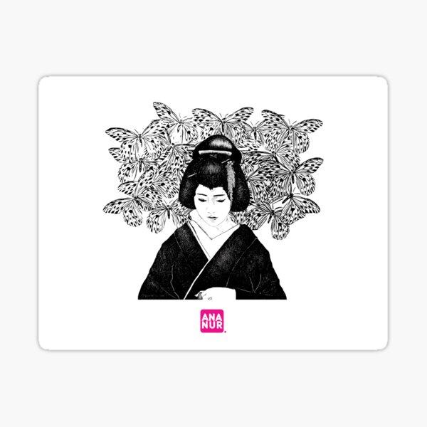 La geisha amoureuse Sticker