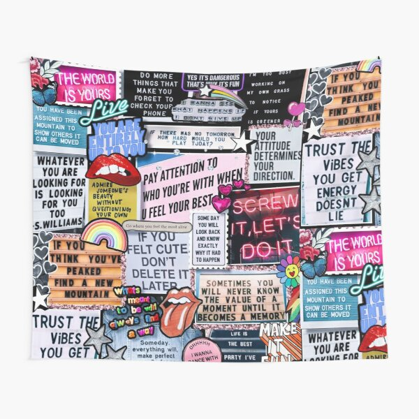Messages of Inspiration Collage Tapestry