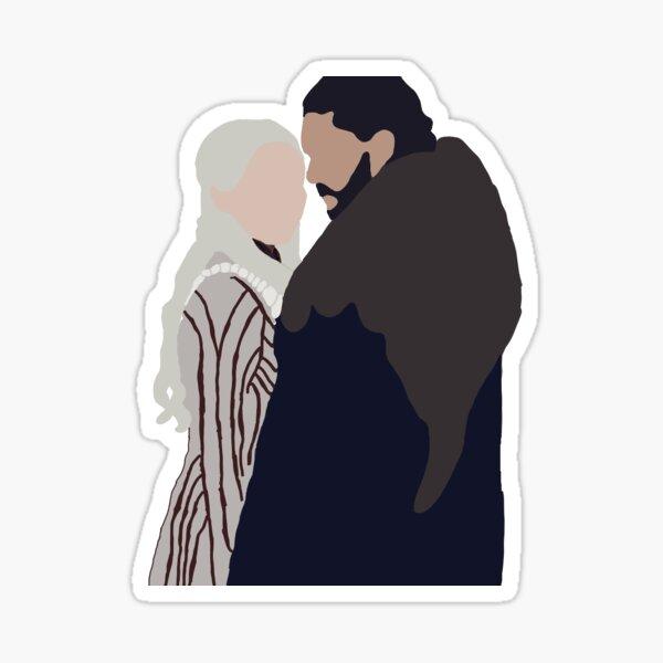 Jon and Dany  Sticker