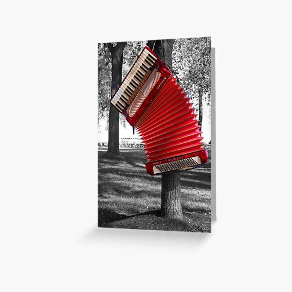 The Red Verdi V hangs Greeting Card