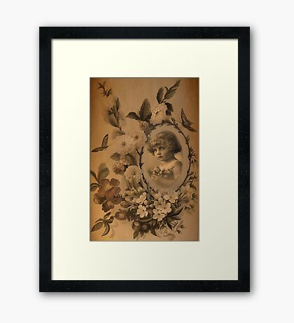 Vintage Childhood. Framed Print